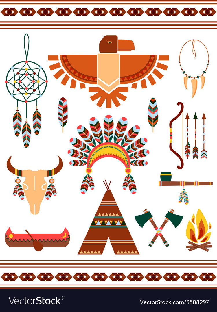 Aztec decorative elements vector | Price: 1 Credit (USD $1)