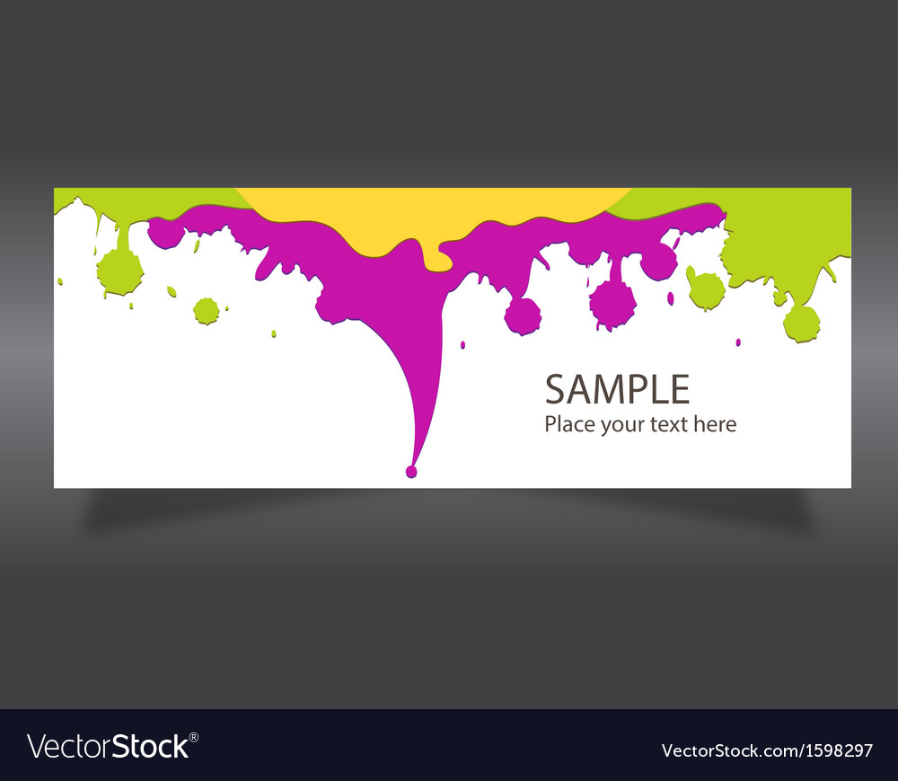 Banner colorful paint vector | Price: 1 Credit (USD $1)