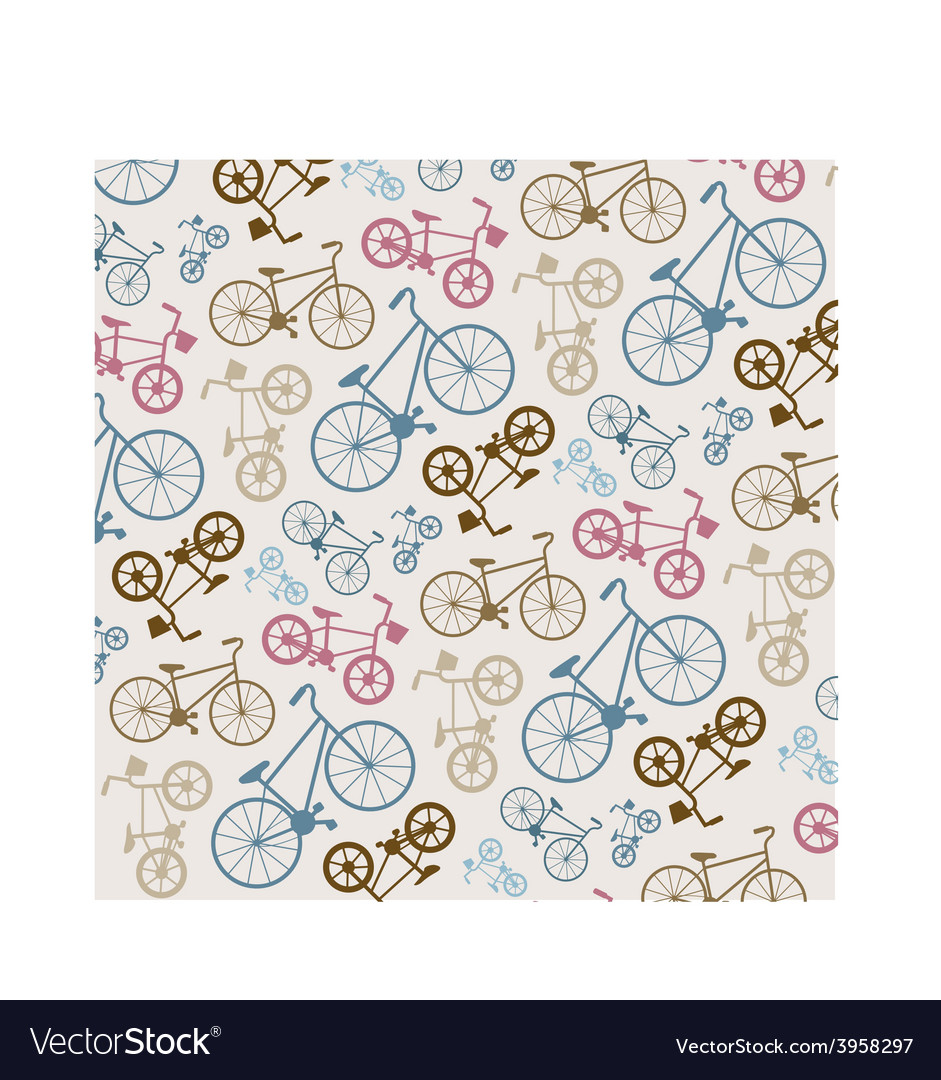 Bicycle texture hipster background vector | Price: 1 Credit (USD $1)