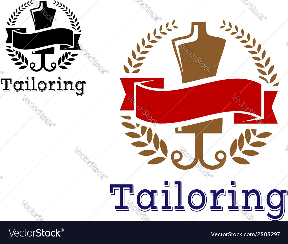 Fashion and tailoring emblem vector | Price: 1 Credit (USD $1)