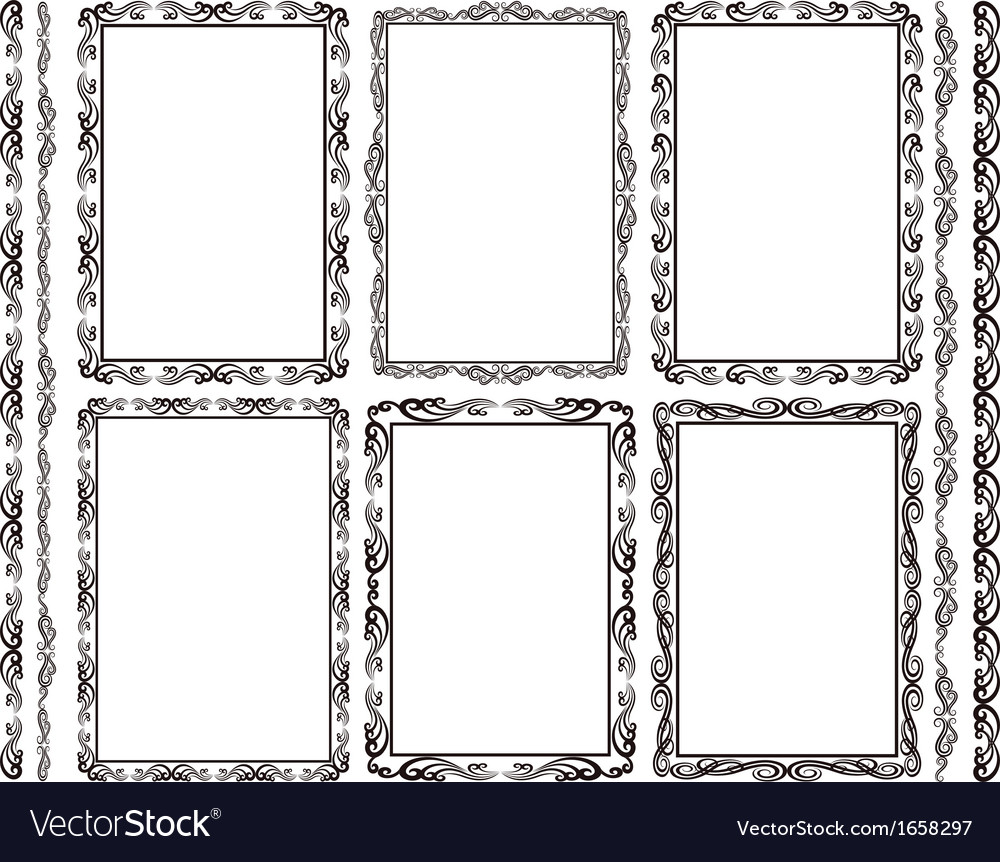 Rectangular frames vector | Price: 1 Credit (USD $1)