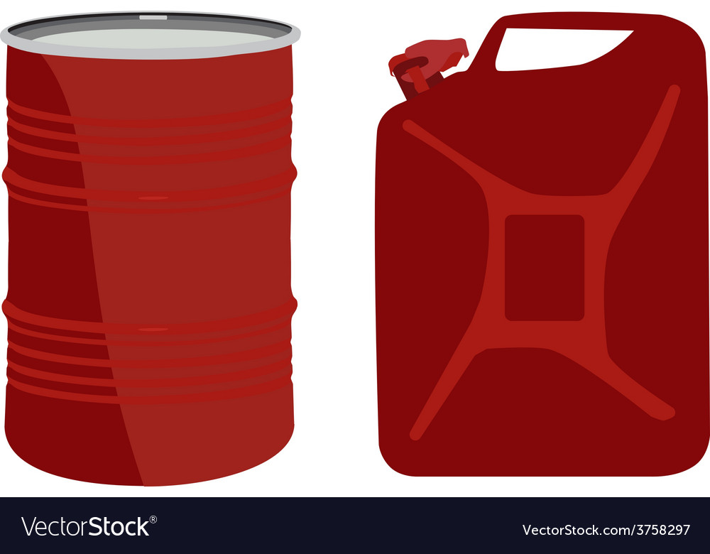 Red barrel and canister vector | Price: 1 Credit (USD $1)