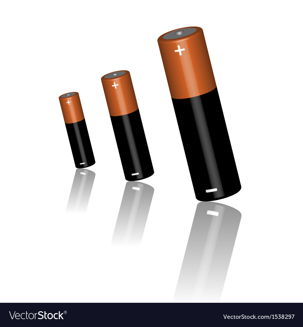 Three batteries vector | Price: 3 Credit (USD $3)