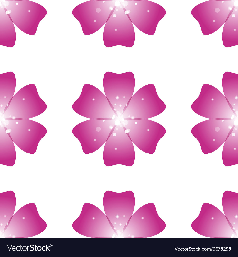Beautiful pink flower seamless floral pattern vector | Price: 1 Credit (USD $1)
