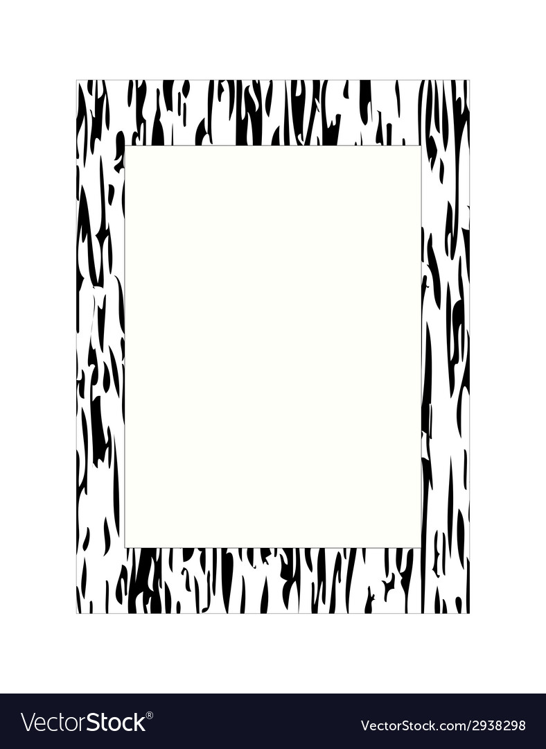 Black and white photo frame vector | Price: 1 Credit (USD $1)
