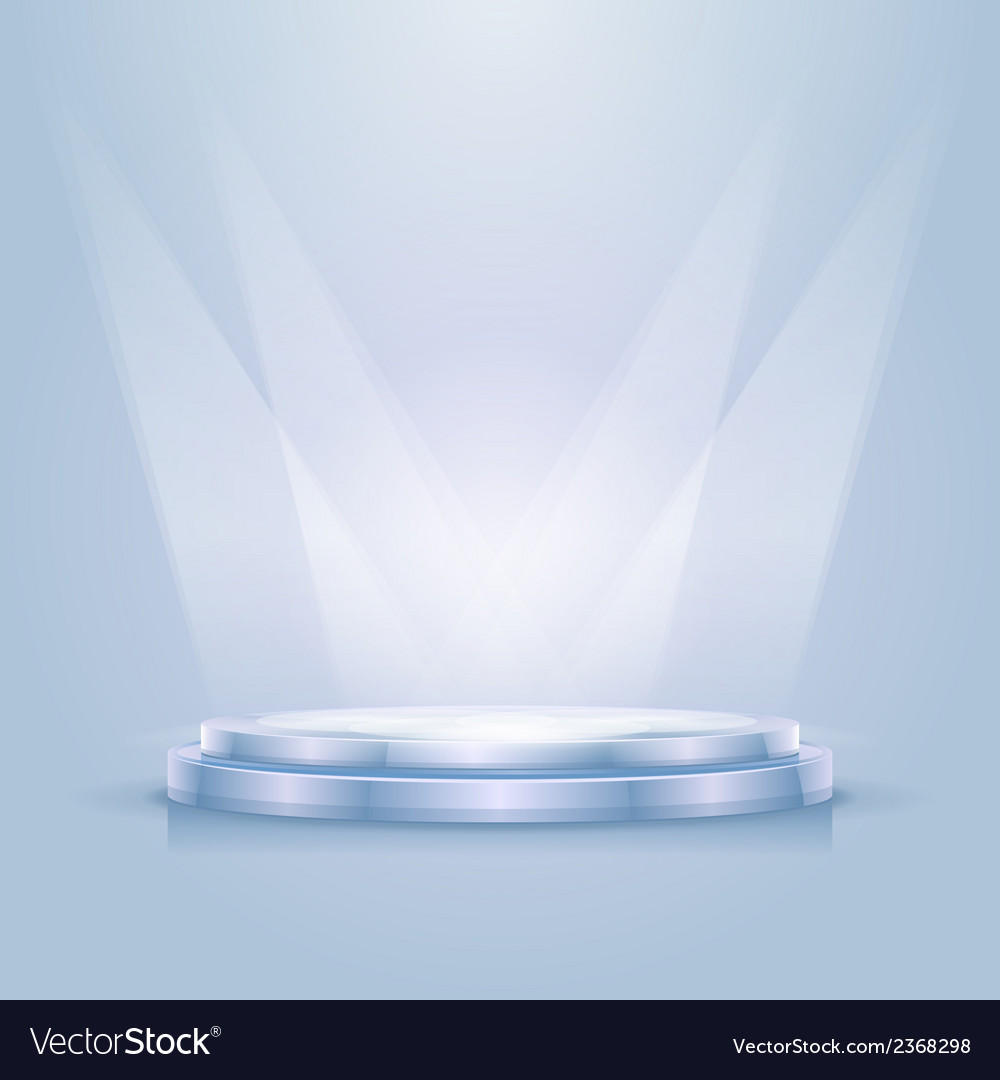 Empty illuminated podium vector | Price: 1 Credit (USD $1)