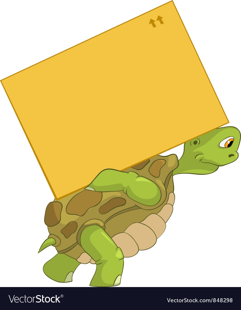 Funny turtle delivery vector | Price: 3 Credit (USD $3)