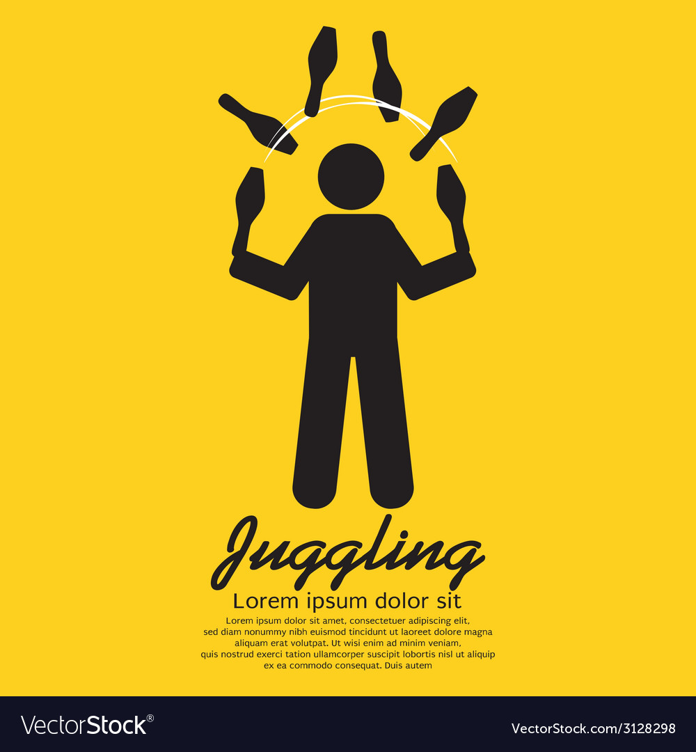 Juggling graphic sign vector | Price: 1 Credit (USD $1)
