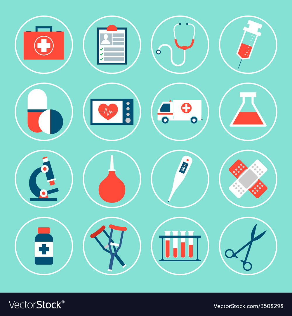 Medical equipment icons vector | Price: 1 Credit (USD $1)