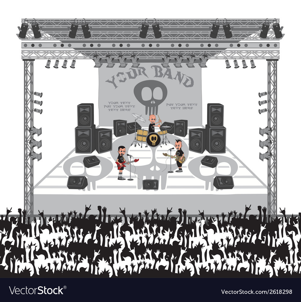 Music stage vector   Price: 1 Credit (USD $1)