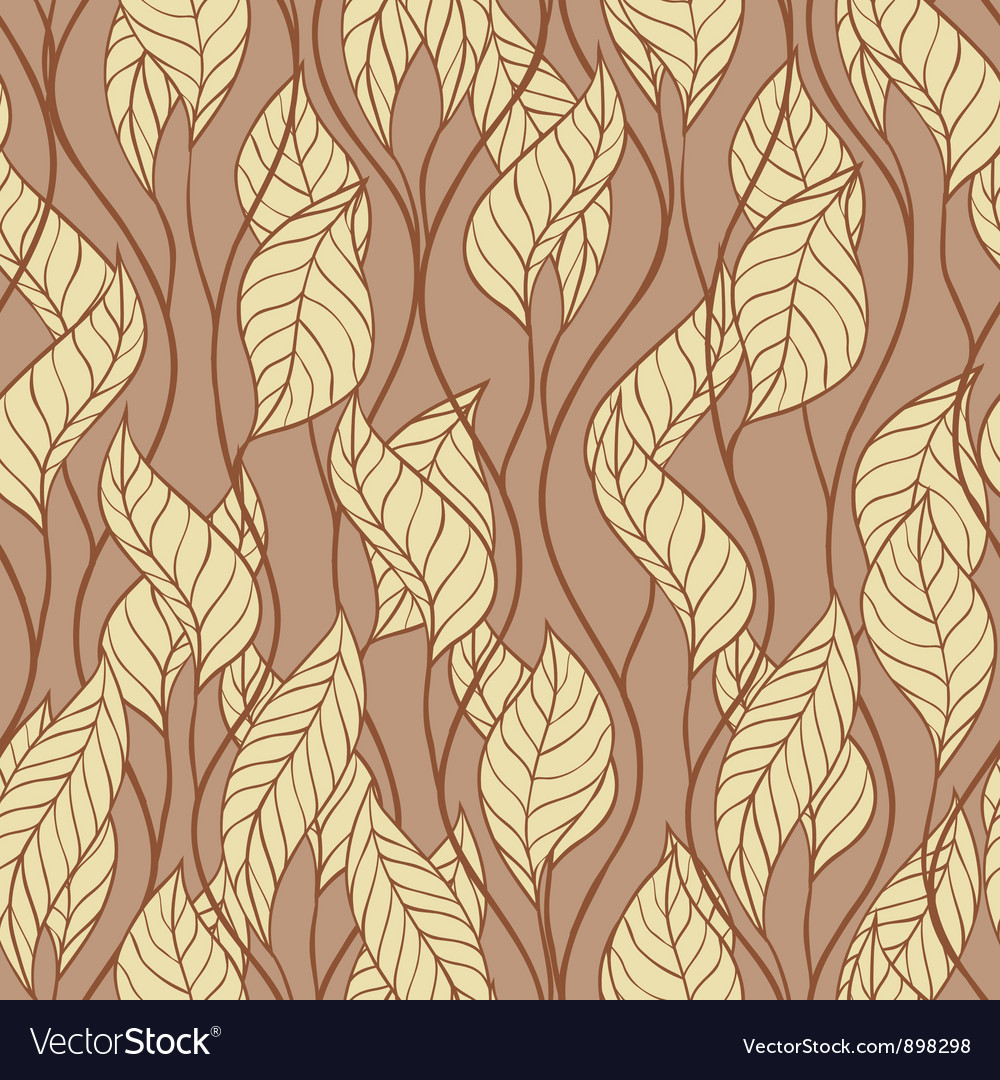 Pattern of autumn macro swirl leaves background vector | Price: 1 Credit (USD $1)