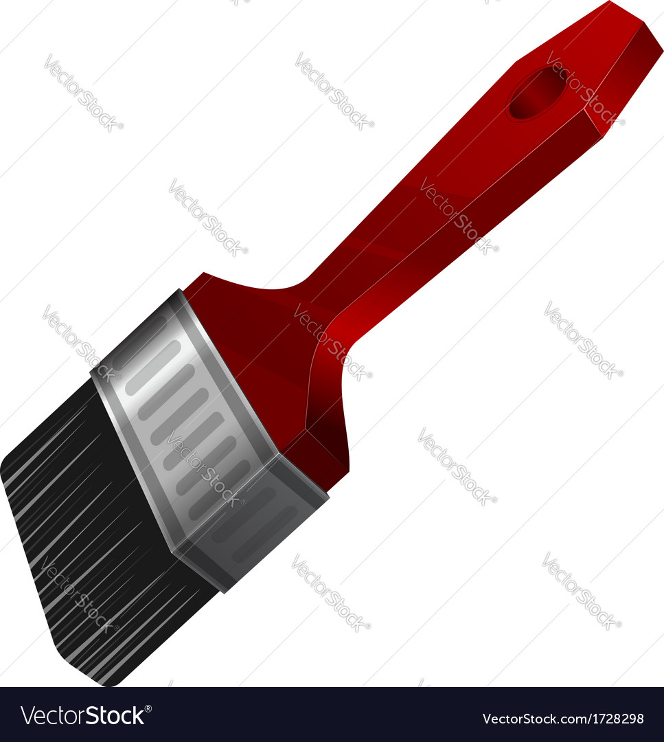 Red paint brush vector | Price: 1 Credit (USD $1)