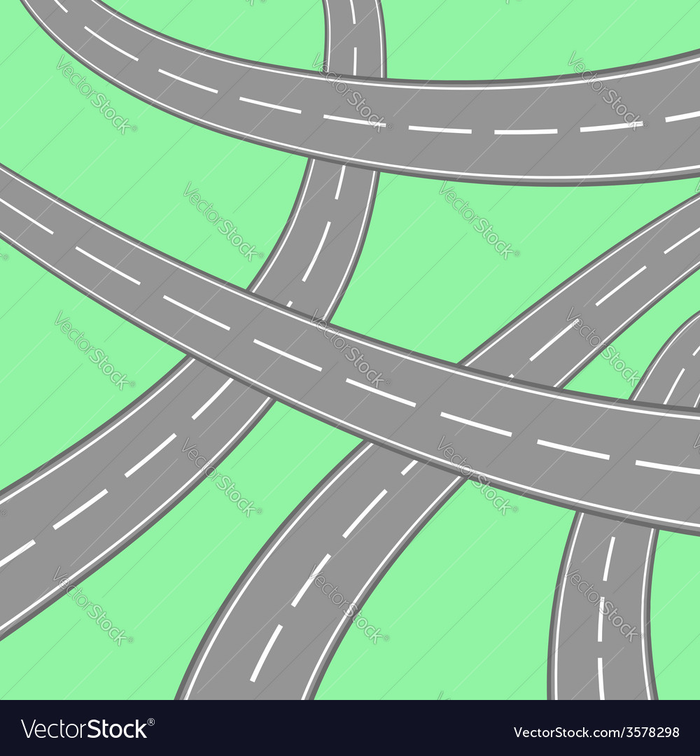 Roads vector | Price: 3 Credit (USD $3)