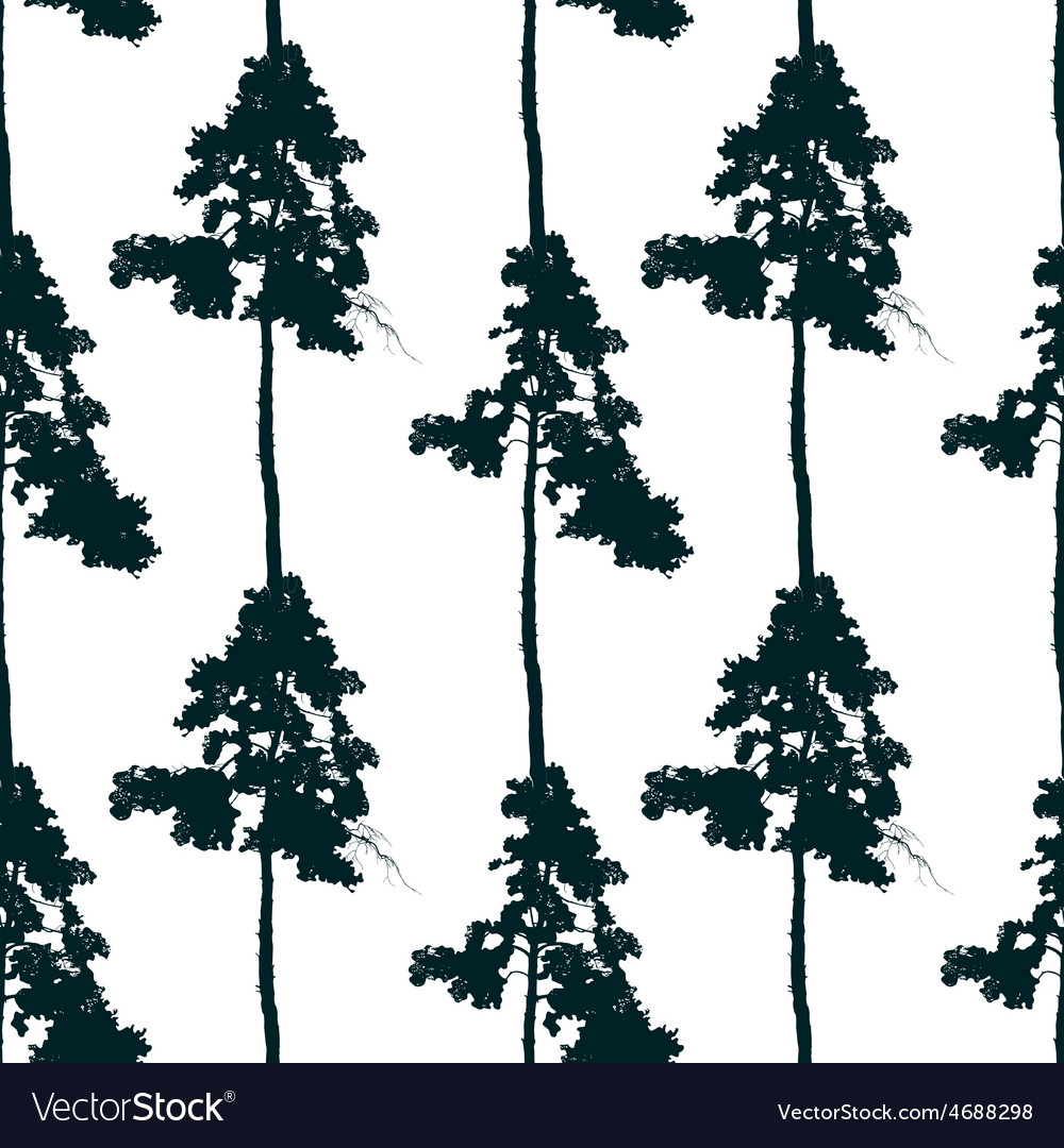 Seamless pattern with pine tree vector | Price: 1 Credit (USD $1)