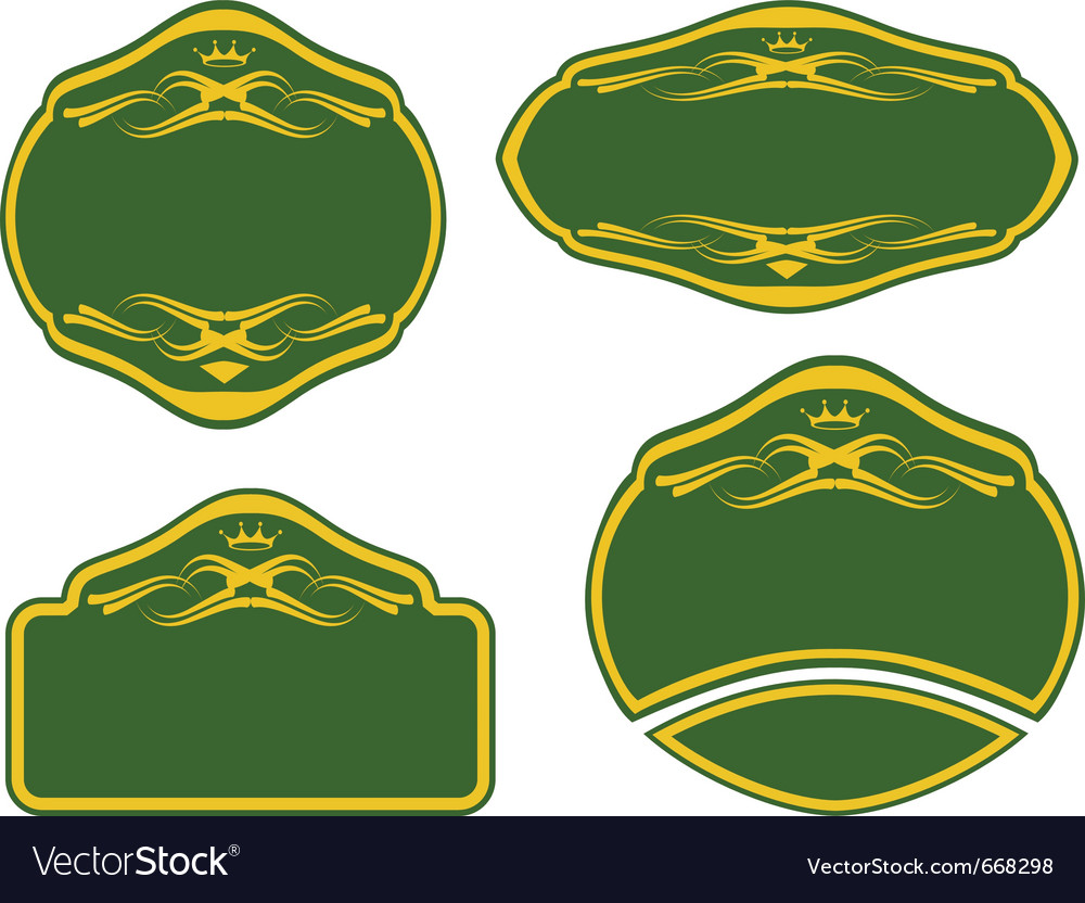 Set of labels of various shapes vector | Price: 1 Credit (USD $1)