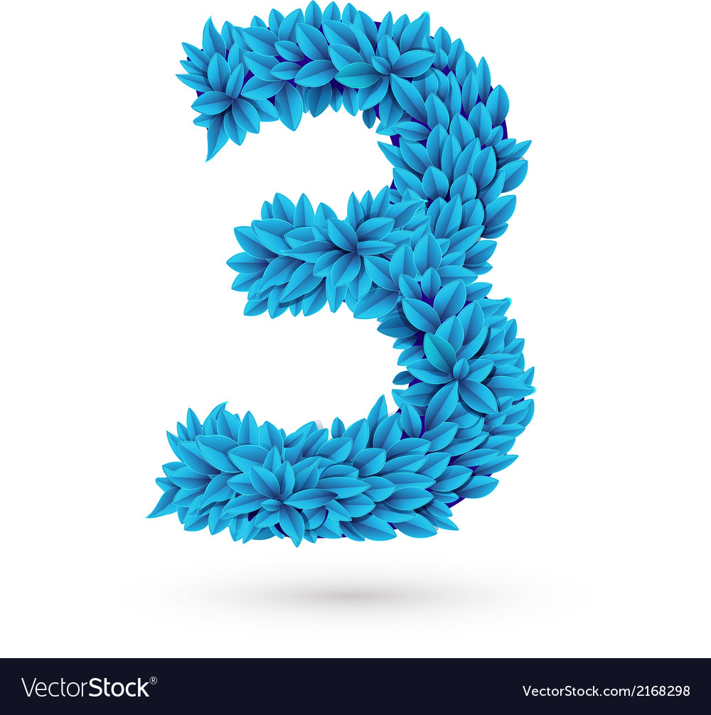 Three 3 number vector | Price: 1 Credit (USD $1)
