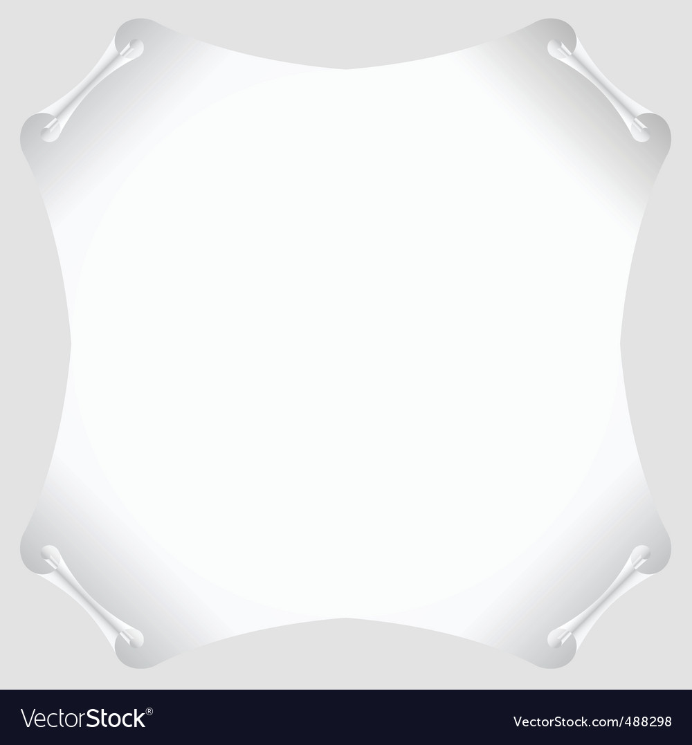 White scroll paper blank vector | Price: 1 Credit (USD $1)