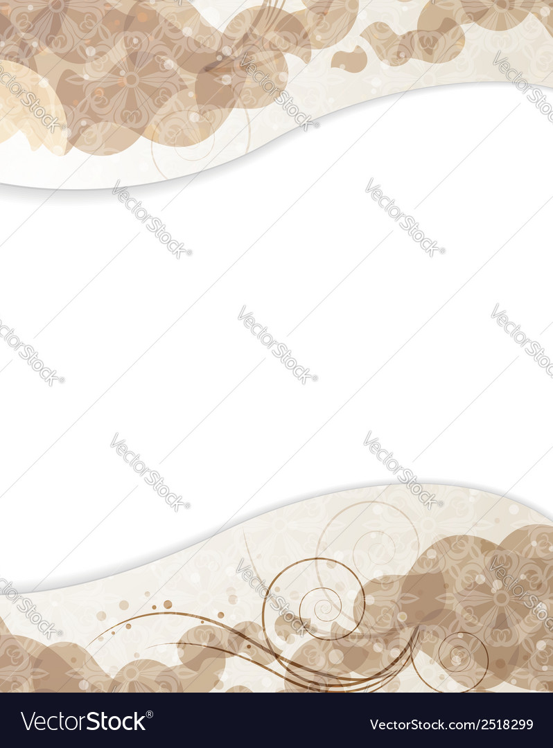 Beige background with petals pattern vector   Price: 1 Credit (USD $1)