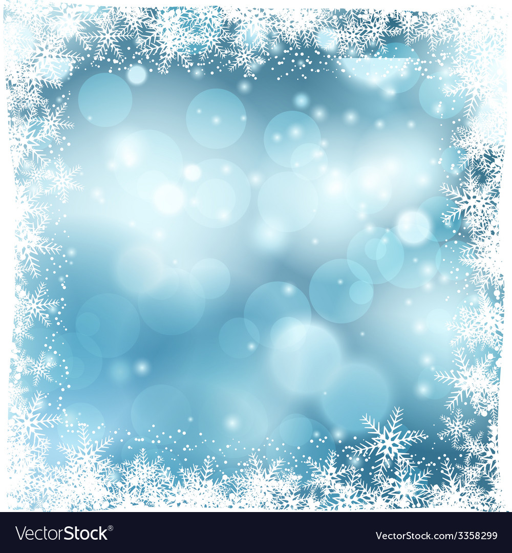 Christmas snowy background vector | Price: 1 Credit (USD $1)