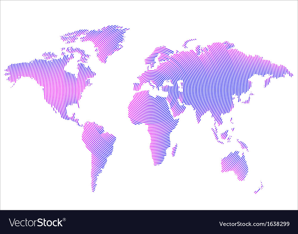 Creative world map vector | Price: 1 Credit (USD $1)