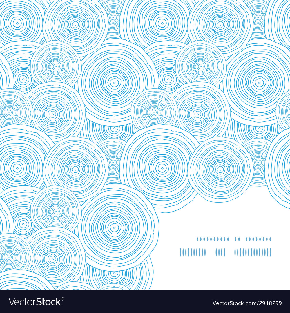 Doodle circle water texture frame corner pattern vector | Price: 1 Credit (USD $1)