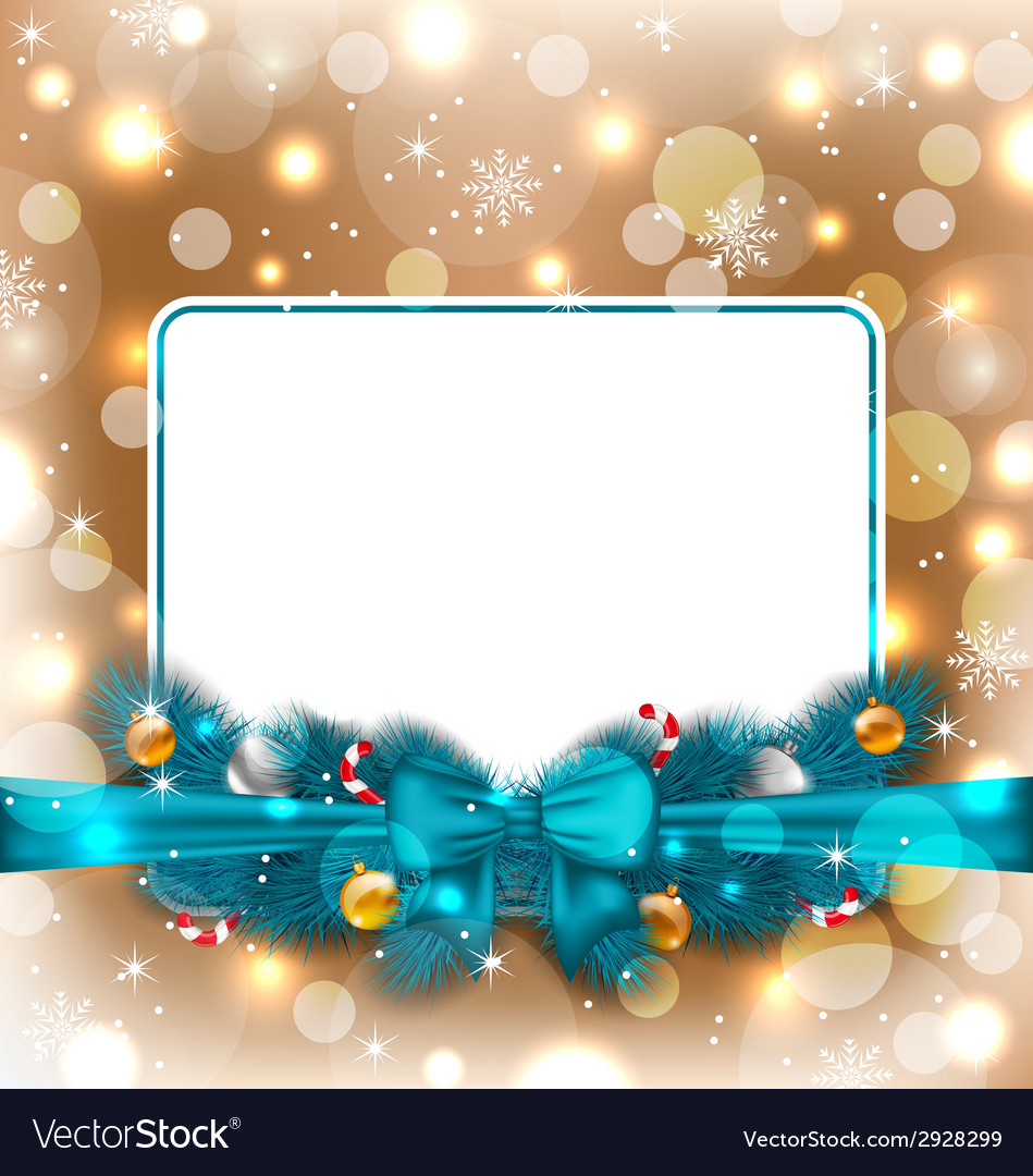 Greeting elegant card with christmas decoration vector | Price: 1 Credit (USD $1)