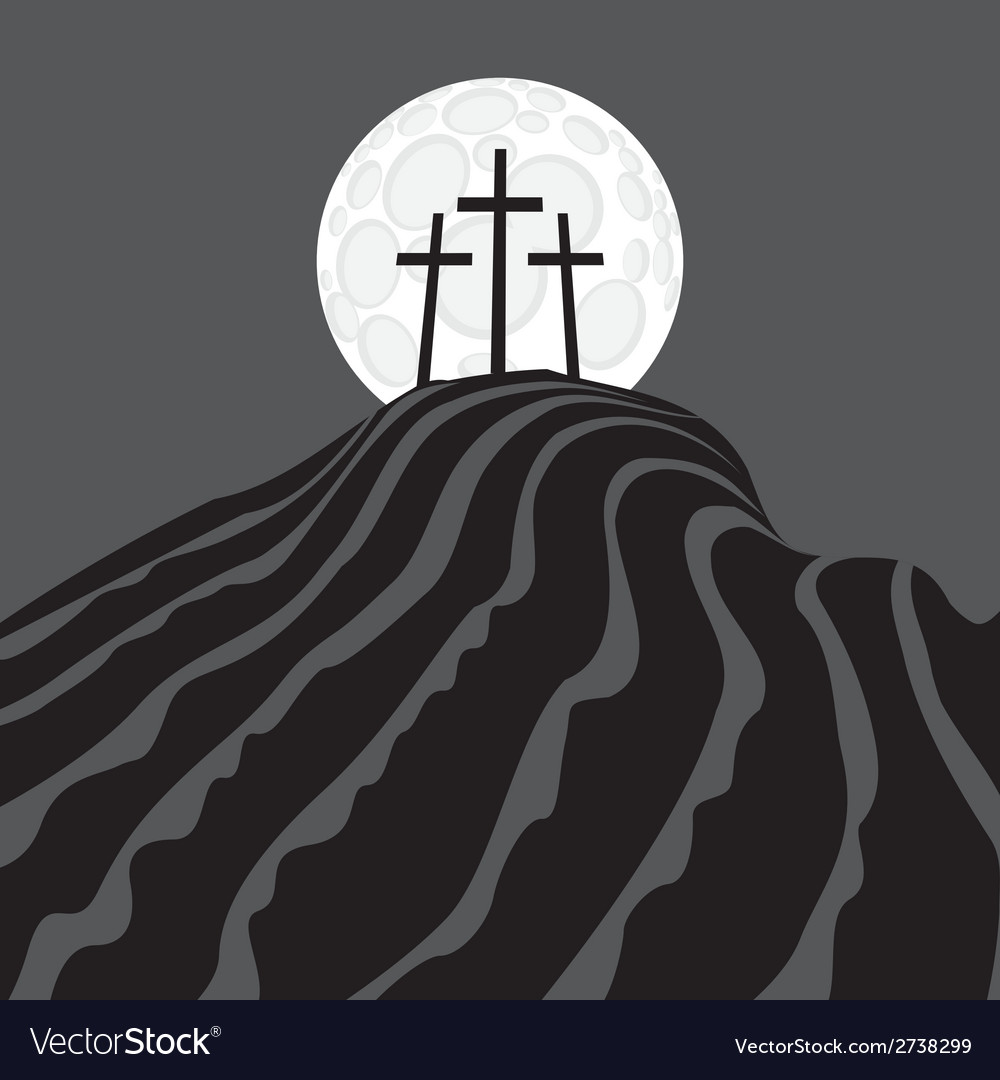 Mount calvary vector | Price: 1 Credit (USD $1)