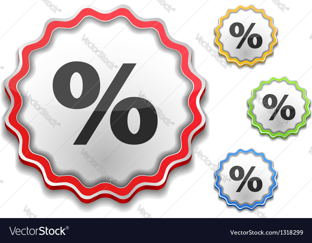 Percent icon vector | Price: 1 Credit (USD $1)