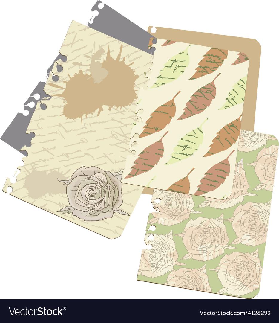 Sentimental old love letter vector | Price: 1 Credit (USD $1)