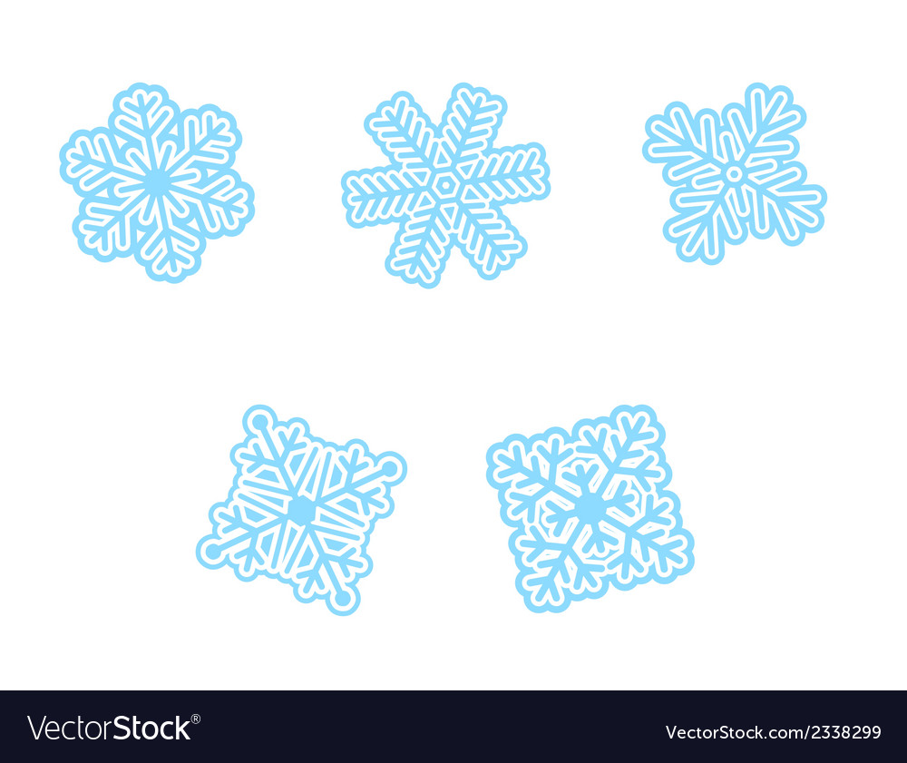 Snow flakes vector | Price: 1 Credit (USD $1)