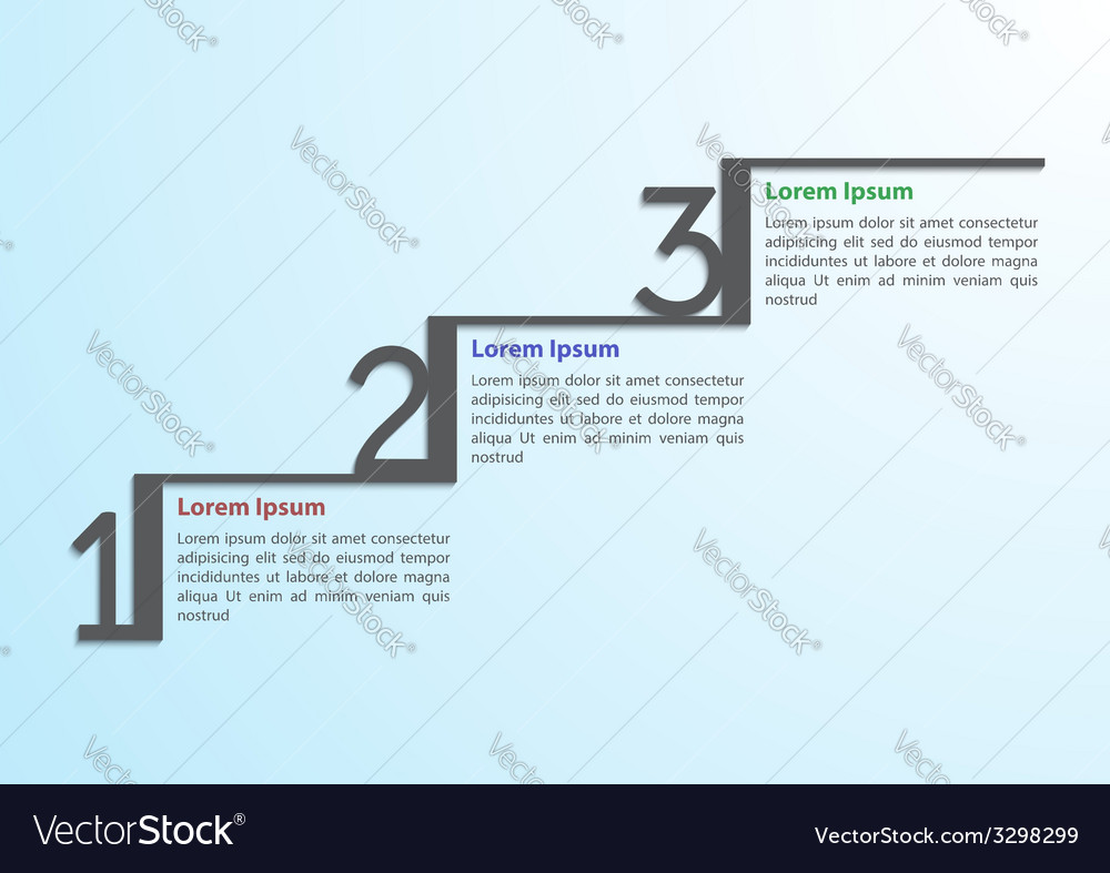 Step by step infographic template vector   Price: 1 Credit (USD $1)