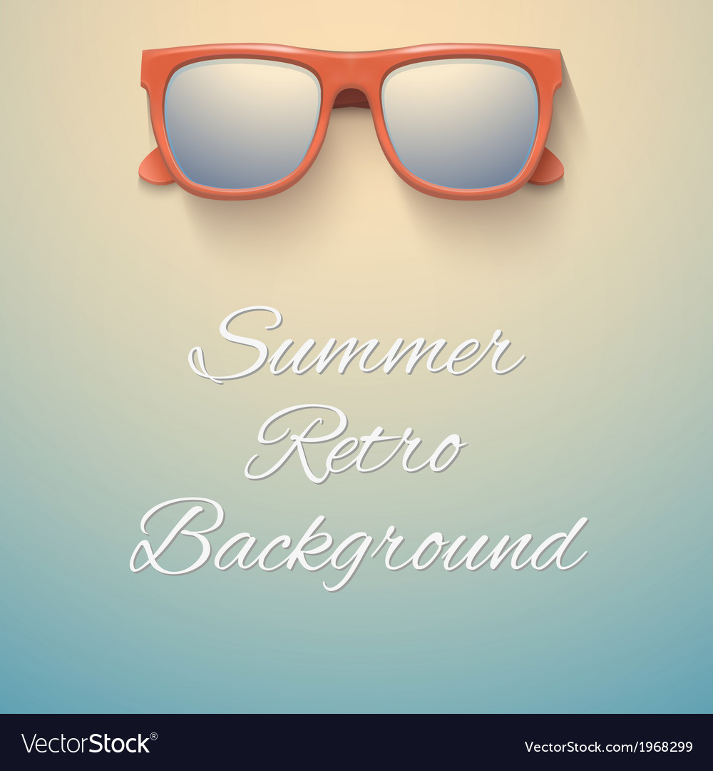 Summer vintage background sandy beach and vector | Price: 1 Credit (USD $1)