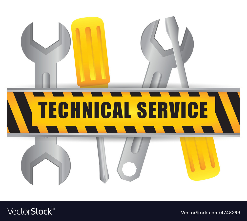 Technical service design vector | Price: 1 Credit (USD $1)