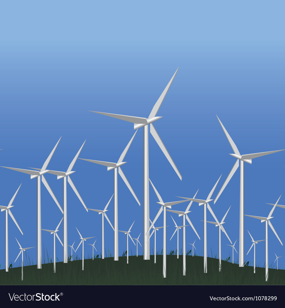 Wind alternative energy station vector | Price: 1 Credit (USD $1)