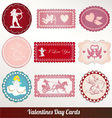 Set card of valentines day vintage vector