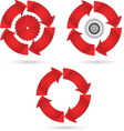 Red circle vector