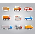 Truck paper stickers vector