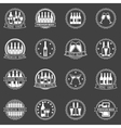 Beer and wine labels set vector