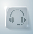 Glass square icon customer support vector