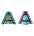3d letter a logo icon design template element vector