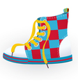 Checked sneaker vector