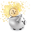 Piggy bank and money vector