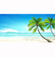 Tropical beach vector
