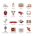 Rap music icons set vector