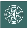 Stamp of snowflake vector
