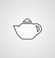 Teapot outline symbol dark on white background vector