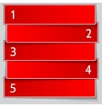 Red paper enumerated banner list vector