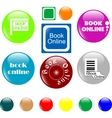 Button book vector