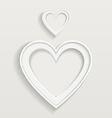 Heart border vector
