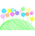 Childish drawing - background template vector